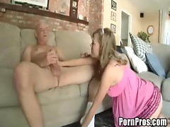 Slutty Blonde Teen Film Her First Hardcore Scene With A Horny Old Man