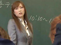 Lustful Asian Teacher Masturbates In Class In Front Of Her Students