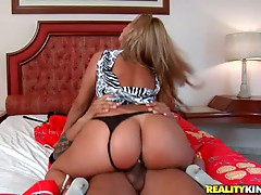 Busty Brazilian Beauty Diana Lins Gets a Hardcore Fucking From a Black Cock
