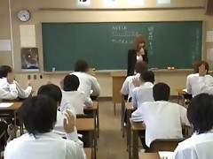 The Naughtiest Asian Teacher Ever Teaching Students Hot To Fuck