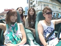 Sexy Japanese Babes Riding a Convertible Car