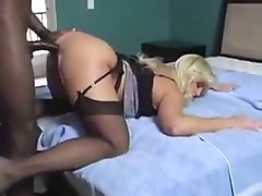 Busty Blonde Mature loves BBC in her ass