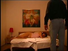 Hidden camera captures married couple fuck in bedroom
