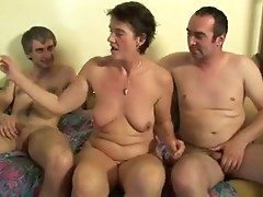 Horny Granny Slut Loves Anal and Threesomes