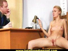 Speculum and dildo secretary test