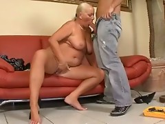 50+ mature takes it up  the butt