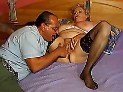 BBW GRANNY WITH BIG BOOBS HAVE FUN