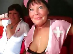 Old nurses collect cum from several patients