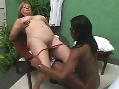 Ebony Tranny anb Blonde Granny - Part 1