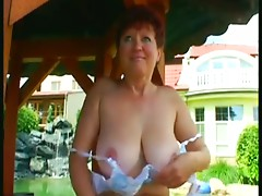granny garden fuck