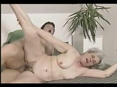 Grey Haired Granny Threesome