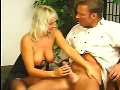 Blonde Milf in Stockings Fucked