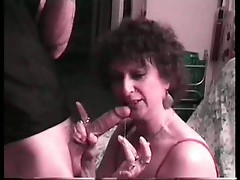 Another cum guzzling granny