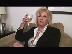 Hot Curvy Blonde Granny Bangs BBC