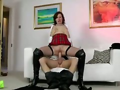 Mature skanky schoolgirl gets banged
