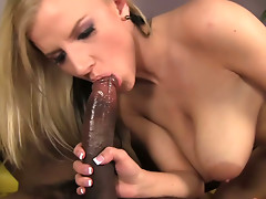 Black meat pole of Sean Michaels destroys white pussy of Haley Cummings