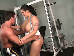 Crummy and buxom brunette Carmella Bing seduces her instructor Lee Stone
