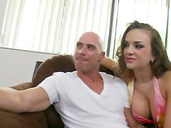 Nika Noire checks pants and flirts with cock