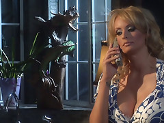 Awesome milf Stormy Daniels is on herknees blowing juicy dick