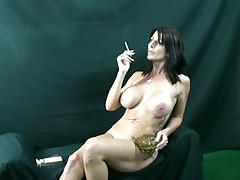 Three Hot Smoking Women
