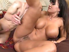 Curvy MILF Lisa Ann gets poked hard by Criss Strokes