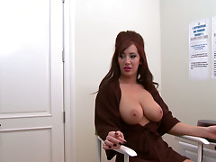 Amazing cock sucker with fluffy pussy Jayden Jaymes sucks a strong cock