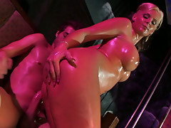 Curvy Phoenix Marie stretches her asshole bad riding a fat dick