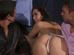 Horny stripper Jayden Jaymes fucks in the middle of the party