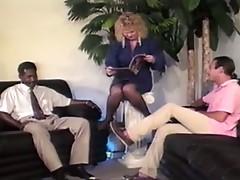 mature blonde Shablee 4 man gangbang
